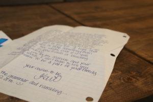 handwrite back